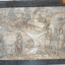 Alabaster tablet showing the parable of the Good Sheperd