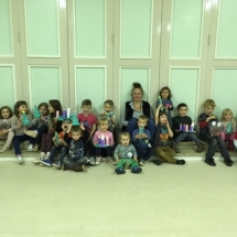 All the children at MESSY church holding the craft they enjoyed making the most