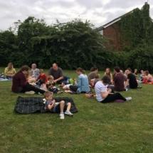 Enjoying our family picnic.